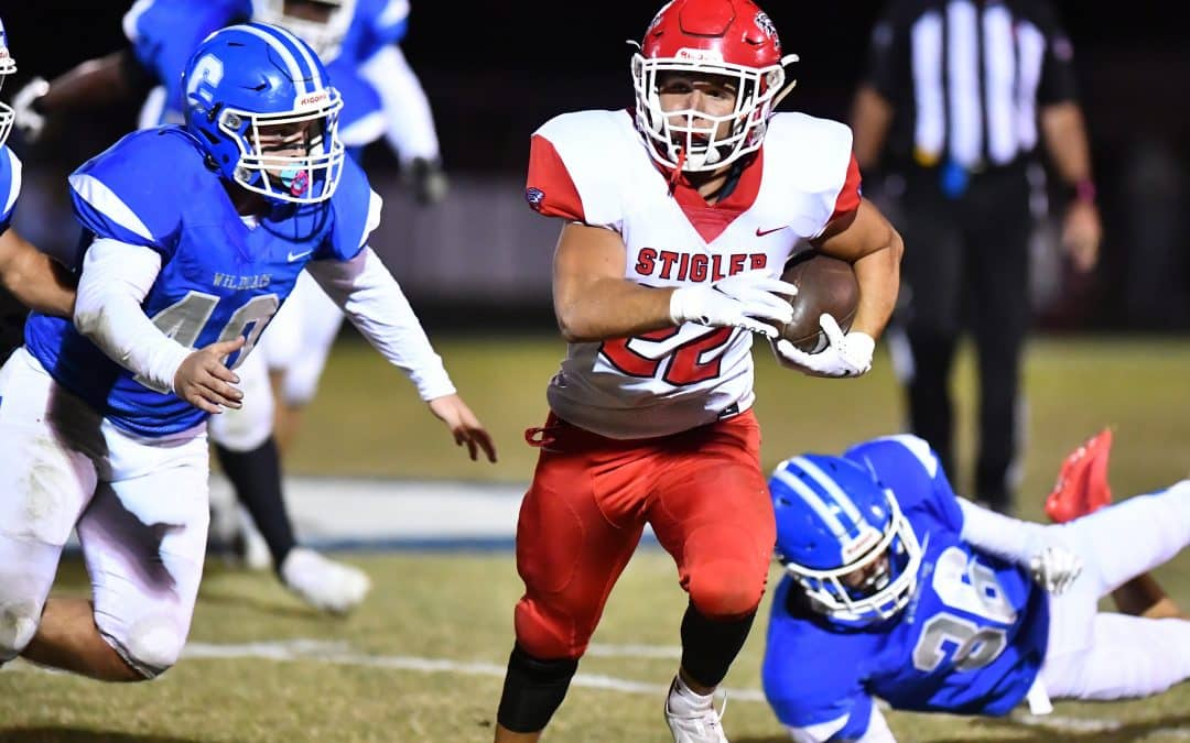 No. 4 Stigler Outscores Checotah in Shootout 56-39